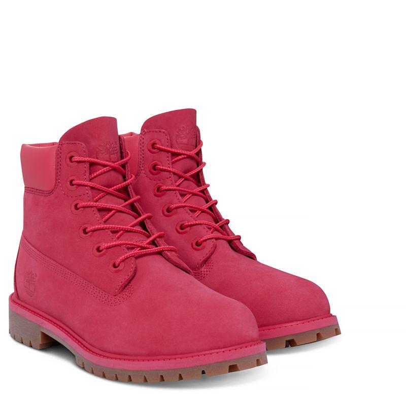 Dětské Kotníkové Boty Timberland 6-inch Premium Boot Růžové Červené  (51245XGN) c79c6d46b0d