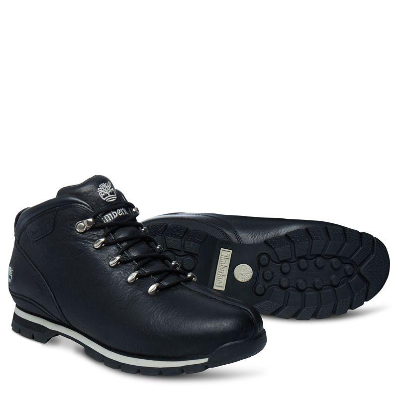 f093871d5f2 Pánské Vysoké Boty Timberland Splitrock Hiker Mid Boot Černé Bílé (92373TYM)